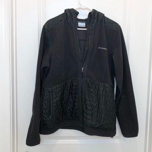 Columbia Black Fleece Hoodie Jacket XL